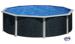 Rund pool - fritstående