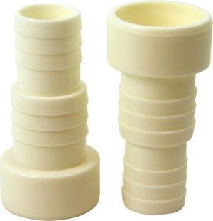 PVC-fittings; Reduktion 50x38 mm slangestuds (2 stk)