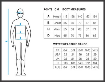 Arena Sizing System Boys