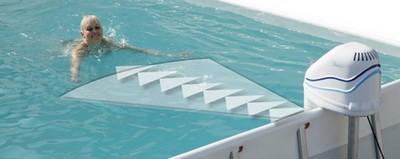 modstrømsanlæg til fritstående pool