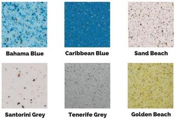 Ceramic pool colors